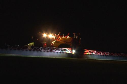 Spraying at night