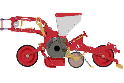Twin sowing unit